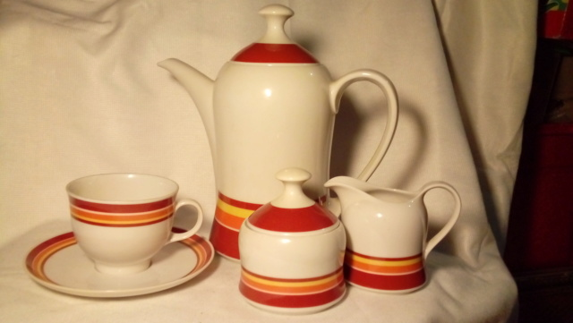 Seltmann Weiden, West Germany 1970s coffee set. 20200382