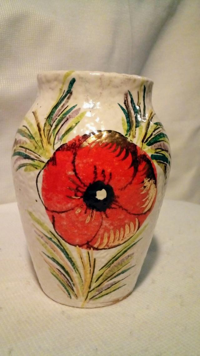 Italian Textured-glaze, Enamelled Vase. 20200404