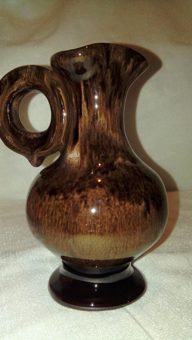Streaky glazed jug, unsigned but distinctive handle. 20200660