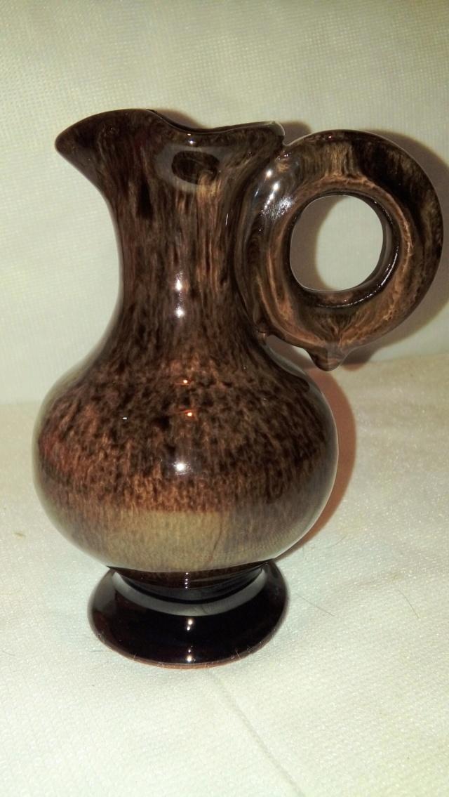 Streaky glazed jug, unsigned but distinctive handle. 20200661