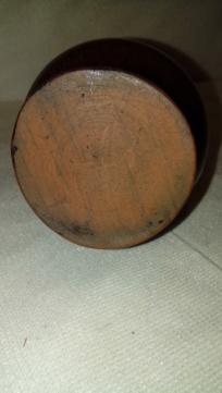Streaky glazed jug, unsigned but distinctive handle. 20200663