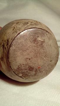 Coil-built, Lava Glazed Pot. Unsigned. 20200695