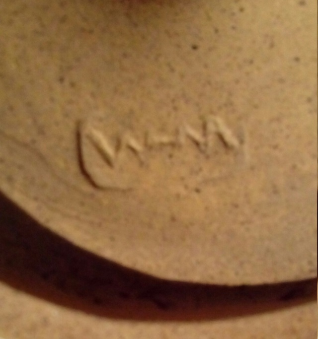 Bronzed Studio Goblet, Incised Monogram. 20200766