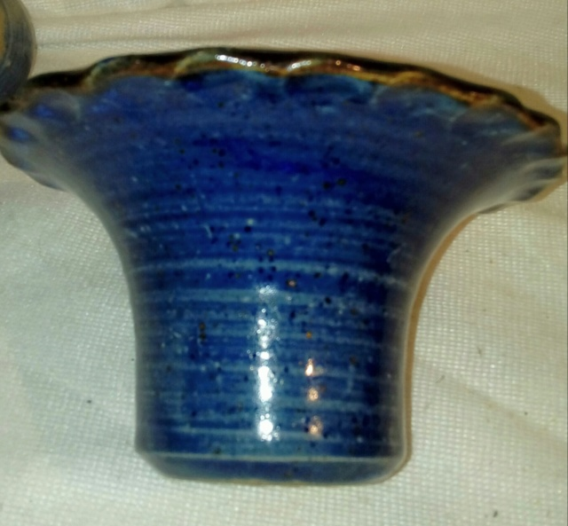 Unsigned 2-piece Flower Bowl. 20200786