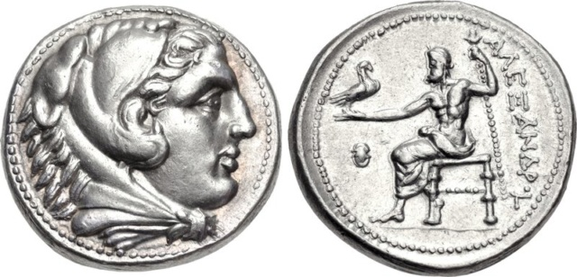 Portraits monétaires Alexandre le Grand Alexan12
