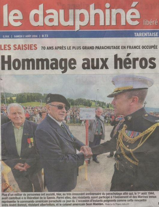 Les Saisies en Savoie, Hommage 2014, 2020, l'AAMCI y était. Aamci_10