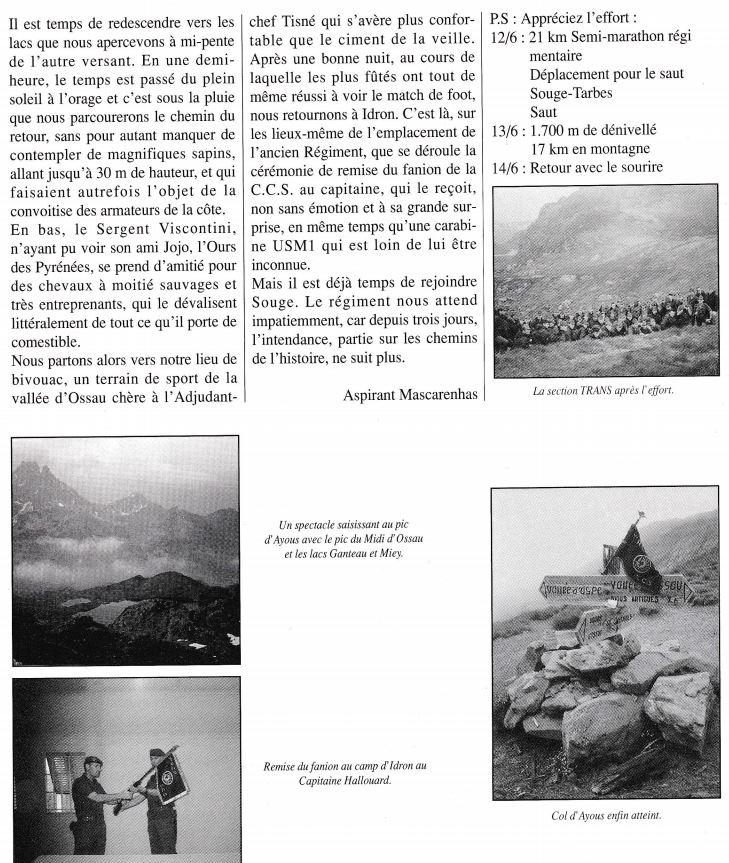 En 1990 la CCS du 1er RCP revient au camp d'Idron Aamci_18