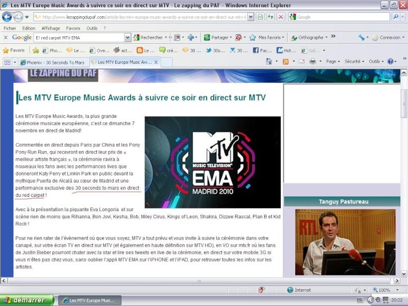 MTV EMA Cérémonie Mtv10