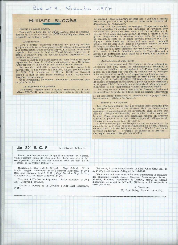 renseignement 20eme BCP 20zome17