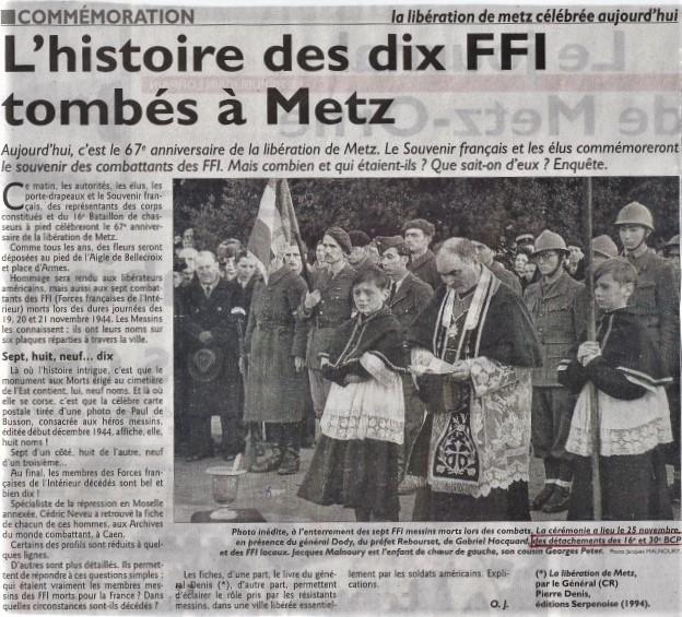Libération de Metz, par la 1e demi-brigade (8e,16e,30e BCP) Libzor10
