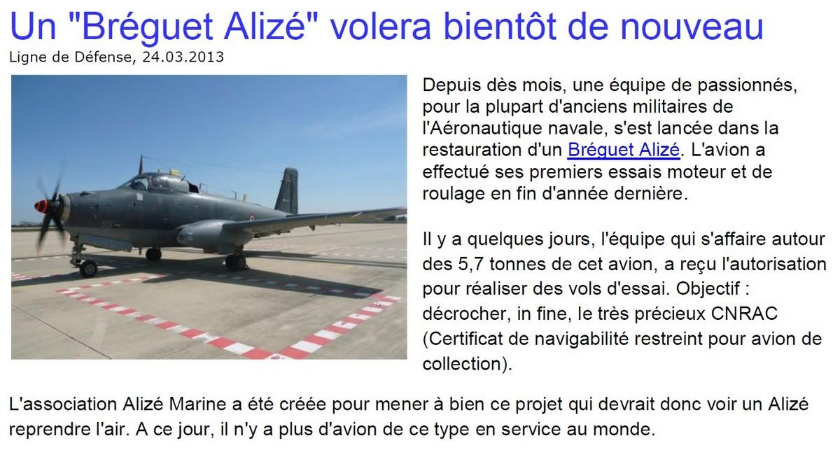 [Aéronavale divers] Breguet Alizé BR 1050 - Page 4 Aliza10
