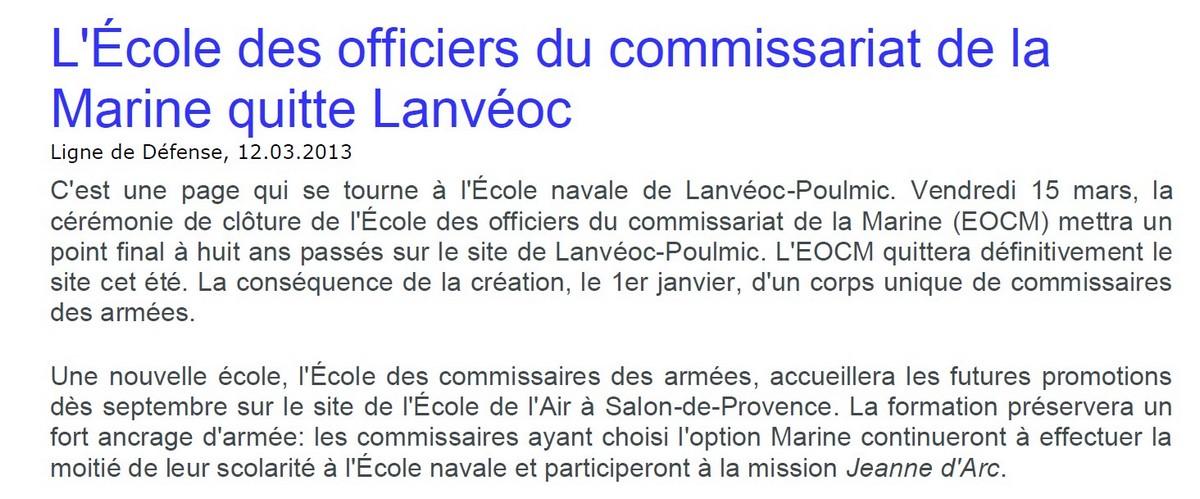 [Divers écoles de spécialité] L'école navale et le groupe des écoles du Poulmic - Page 3 Lanvao10