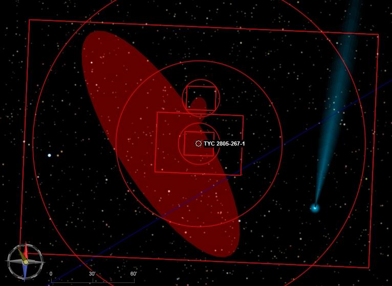 Comète C/2011 L4 : Panstarr, Visible à partir de Mars 2013 M31_pa10