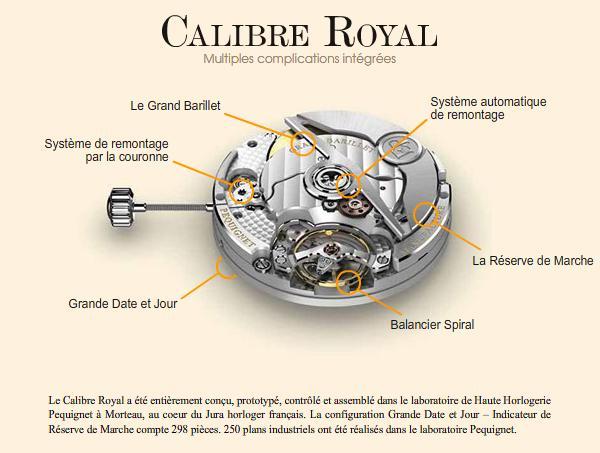 Salon les Montres > PEQUIGNET Calibre Royal Pequig10