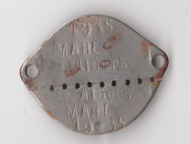 Les plaques d'identité Françaises 39/40 Plaque60