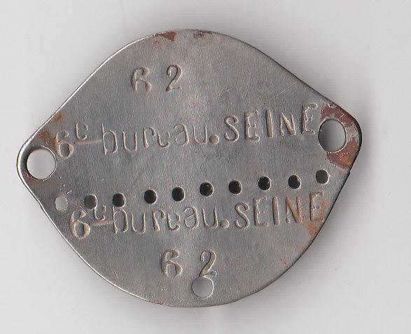 Les plaques d'identité Françaises 39/40 Plaque61