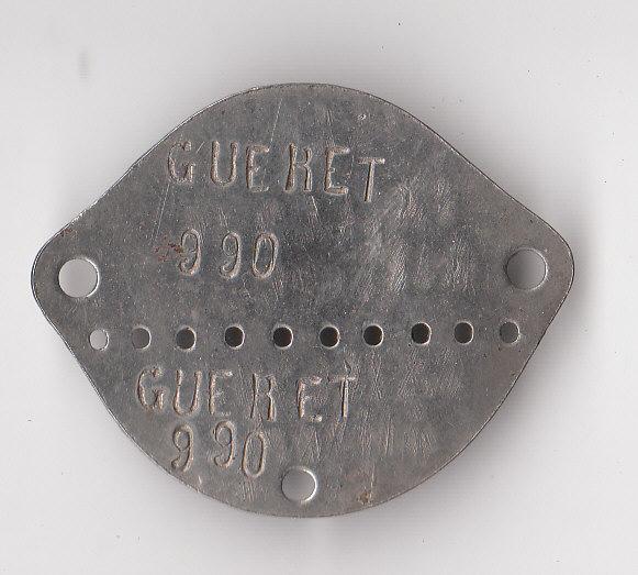 Les plaques d'identité Françaises 39/40 Plaque63