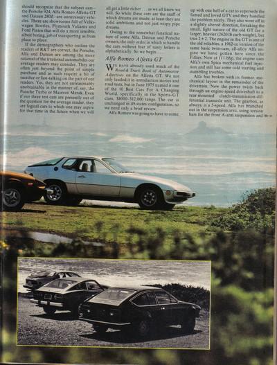 ROAD & TRACK Juillet 1976: comparatif ... Road__13