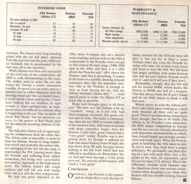 ROAD & TRACK Juillet 1976: comparatif ... Road__24
