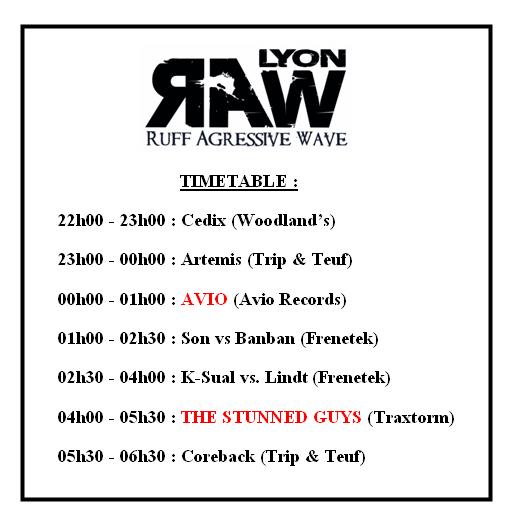 [ R.A.W soutien à Frenetek - 22 Mai 2010 - Woodlands Club - Lyon - FR - Special Guest : AVIO & STUNNED GUYS ] - Page 6 Timeta10