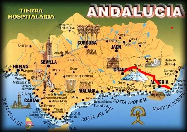Andalousie (1) Alméria-Grenade Carte_13