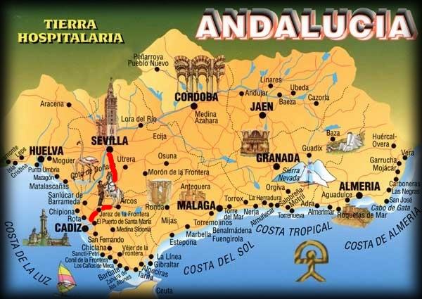 Andalousie (5) de Séville a Cadix Carte_17