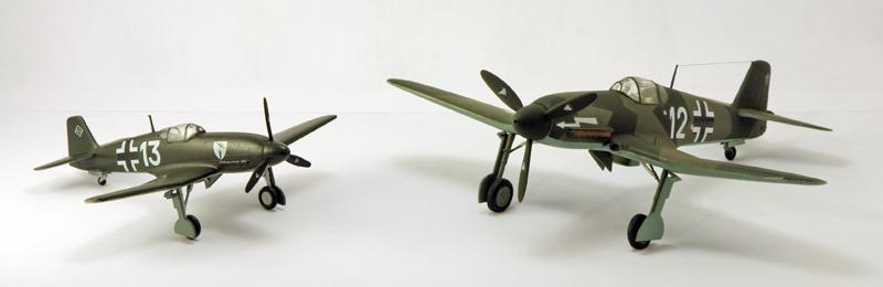 Heinkel He 100D en duo, 1:48 HiPM & 1:72 MPM Heinke17