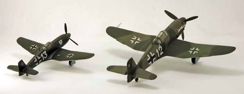 Heinkel He 100D en duo, 1:48 HiPM & 1:72 MPM Heinke18