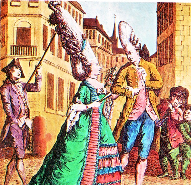 Coiffures du XVIIIeme: poufs, postiches, bonnets et chapeaux - Page 5 Perruq10