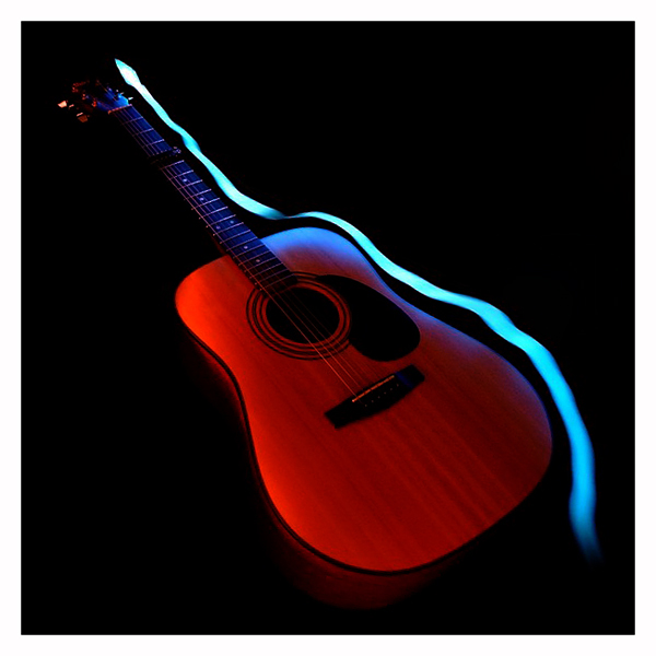 Guitare et Paint Lighting Guitar12