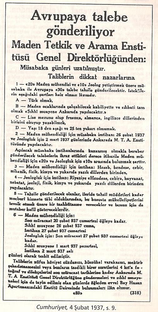 1936-1938 Döneminde Verilen Kamu İlanlarında Irk Şartı 0812-k10