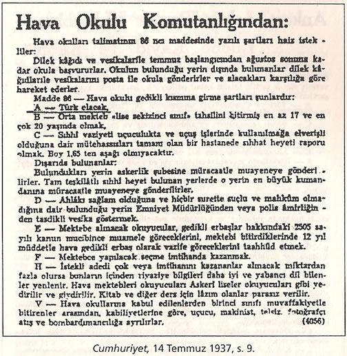 1936-1938 Döneminde Verilen Kamu İlanlarında Irk Şartı 0812-k12