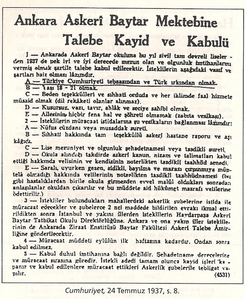 1936-1938 Döneminde Verilen Kamu İlanlarında Irk Şartı 0812-k13