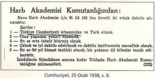 1936-1938 Döneminde Verilen Kamu İlanlarında Irk Şartı 0812-k14