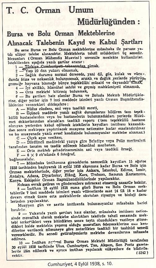 1936-1938 Döneminde Verilen Kamu İlanlarında Irk Şartı 0812-k16