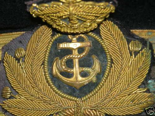 Casquette de commandant de sous marin italien Casque12