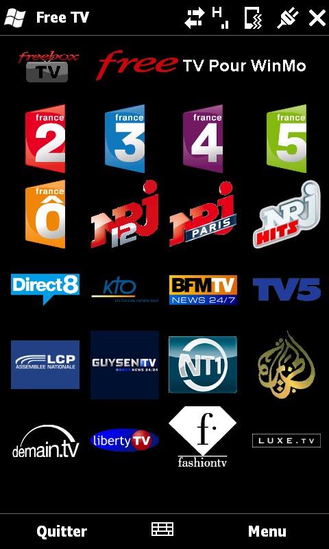 [SOFT] Free TV Pour WinMo : Regarder les chaines de Free sur PDA Screen10