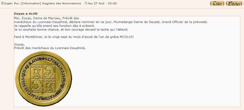 [Lettres de (dé)nomination - créances] Nomina10