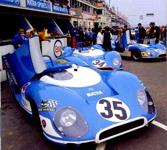 Porsche 936 en action au Mans en 1977 ... Matra_12