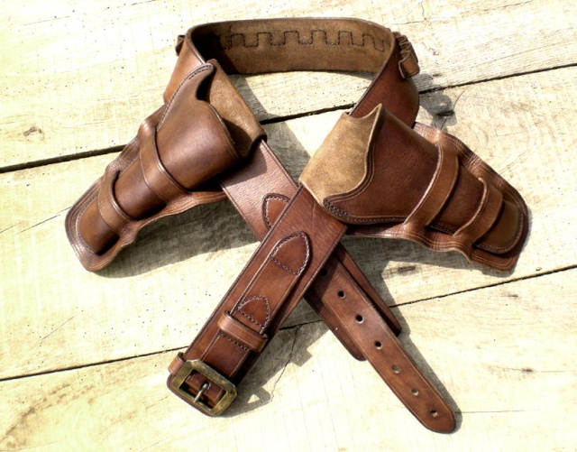 """Ensemble CAS holsters """"Old west"""" Comple10"""