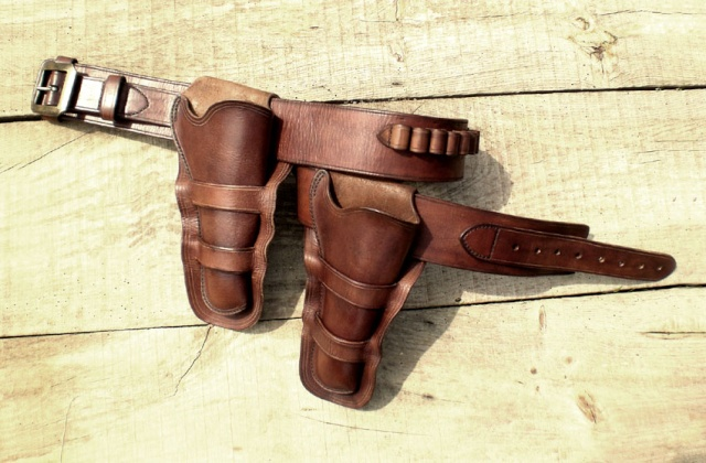 """Ensemble CAS holsters """"Old west"""" Comple11"""