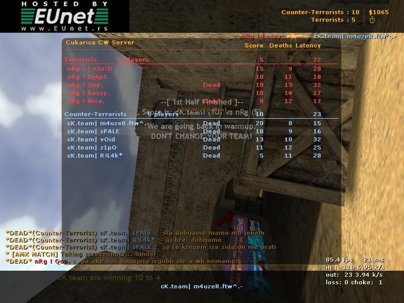 cK.team vs nRg Spale110