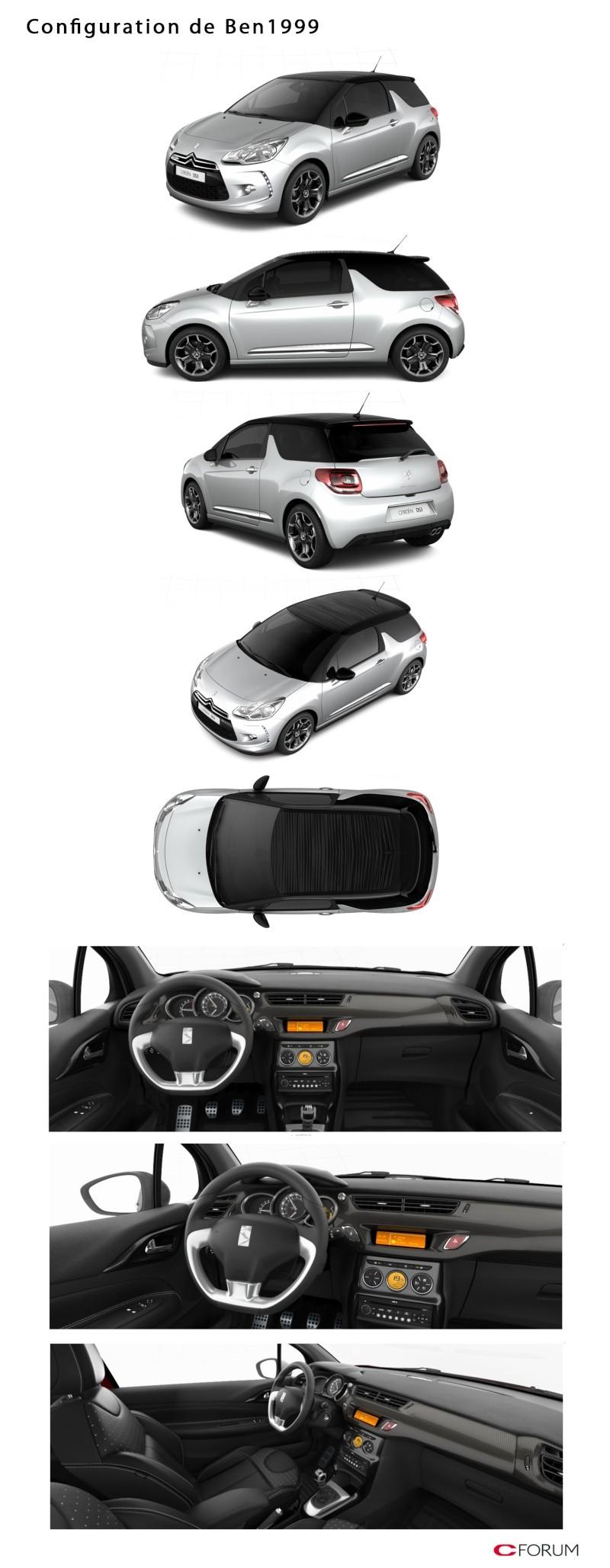 DS3 1.6 THP 155 Sport Chic / Gris Aluminium - toit Noir Onyx Config25
