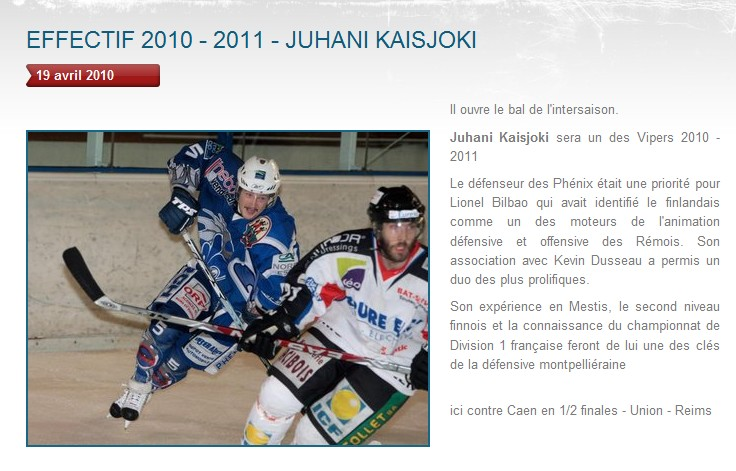 Transferts officiels des Vipers 2010-2011 Juhani10