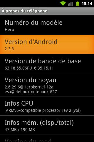 [AIDE] installer la version 2.3 sur htc hero. Snap2012