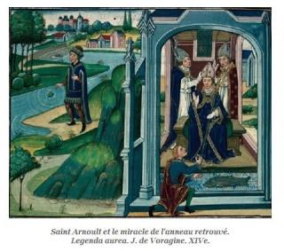 LA VIERGE MARIE A BOUXIERES AUX DAMES AU NORD DE NANCY EN LORRAINE-BERCEAU CAROLINGIENS-CAPETIENS après le FRANKENBOURG St_arn13