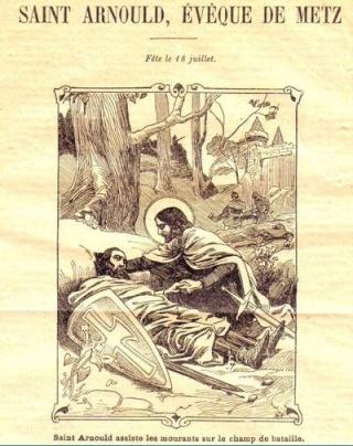 LA VIERGE MARIE A BOUXIERES AUX DAMES AU NORD DE NANCY EN LORRAINE-BERCEAU CAROLINGIENS-CAPETIENS après le FRANKENBOURG St_arn15