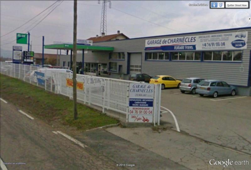 Streetview un garage ferrari bien de chez nous for Garage ferrari charnecles