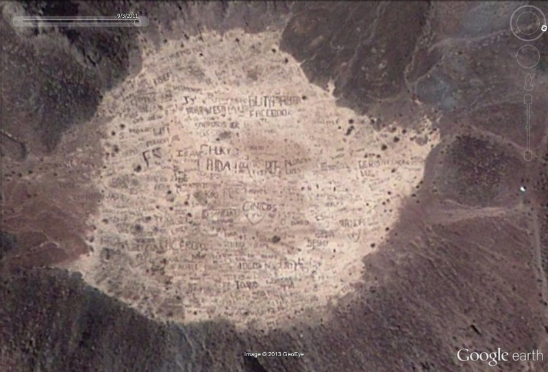 Ecritures sur le volcan Cerro Prieto, Baja California - Mexique Volcan10