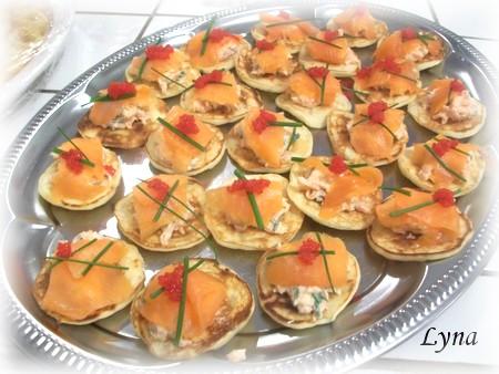 Garniture au saumon fumé et crème fraîche pour blinis  Blinis16